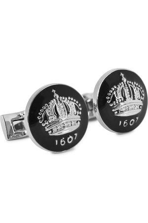 Skultuna Mænd Manchetknapper - Cuff Links The Crown Silver/Baroque Black