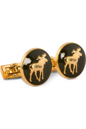 Skultuna Mænd Manchetknapper - Cuff Links Hunter The Moose Gold/Green