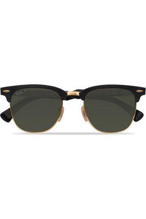 Ray-Ban 0RB3507 Clubmaster Sunglasses Black Arista/Polar Green