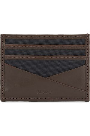 Mismo M/S Cardholder Navy/Dark Brown