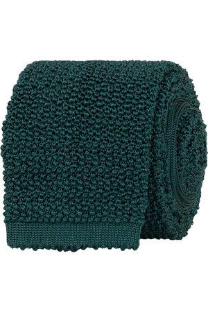 Drake's Knitted Silk 6.5 cm Tie Green