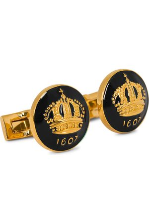 Skultuna Cuff Links The Crown Gold/Baroque Black