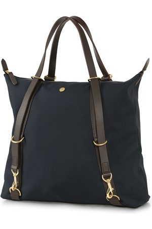 Mismo M/S Nylon Day Pack Navy/Dark Brown