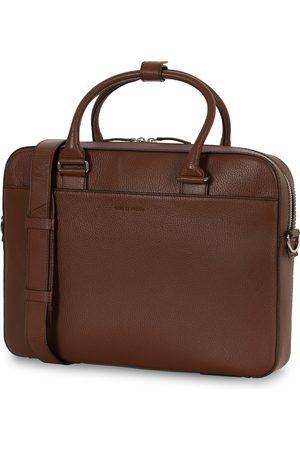Tiger of Sweden Mænd Laptop Tasker - Bosun Grained Leather Briefcase Brown