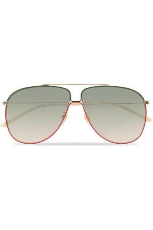 Gucci GG0440S Sunglasses Gold/Green
