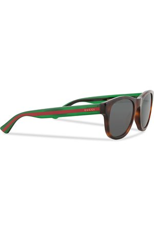 Gucci GG0003S Sunglasses Havana/Grey/Green
