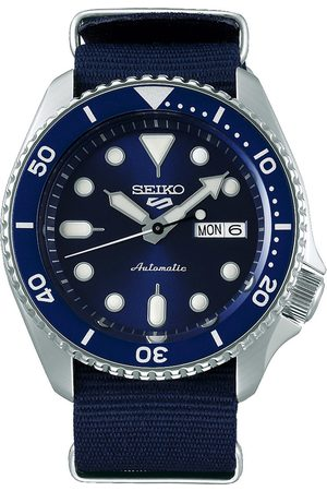 Seiko 5 Sports Mens 43mm 100m Automatic Blue Dial/Nato