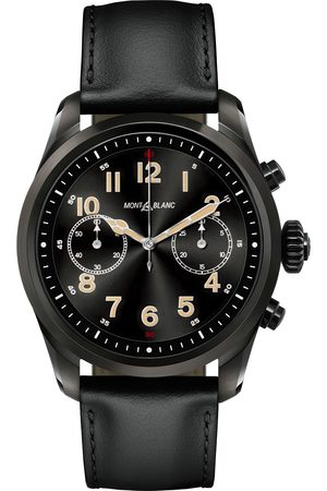 Mont Blanc Summit2 42mm Smartwatch Steel Black DLC / Black Calf
