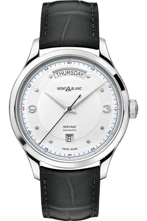 Mont Blanc Heritage Steel Automatic 39mm Silver Dial