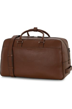 Tiger of Sweden Mænd Weekendtasker - Brome Grained Leather Weekendbag Brown