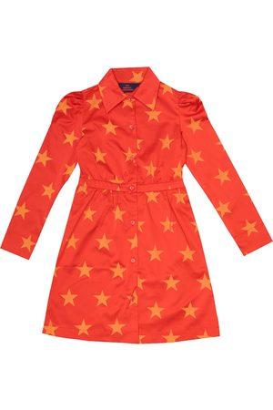 The Animals Observatory Kvinder Casual kjoler - Dolphin printed satin shirt dress