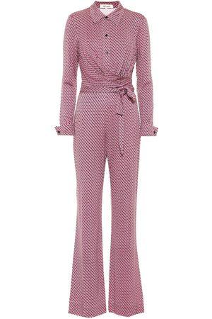 Diane von Furstenberg Michele printed silk jersey jumpsuit