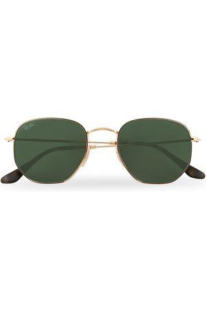 Ray-Ban 0RB3548N Hexagonal Sunglasses Gold/Green