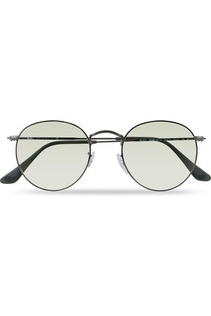 Ray-Ban 0RB3447 Round Metal Sunglasses Gunmetal/Light Green