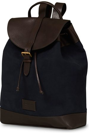 Anderson's Suede/Leather Backpack Navy/Brown