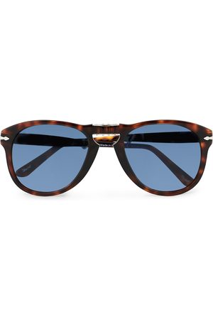 Persol 0PO0714 Folding Sunglasses Havana/Blue Gradient