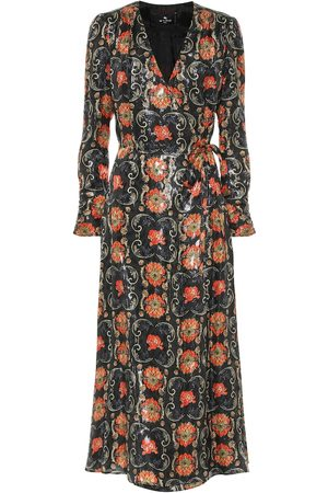 Etro Printed silk-blend crêpe midi dress