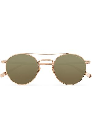 GARRETT LEIGHT Limited Edition X Rimowa 49 Sunglasses Flat Green