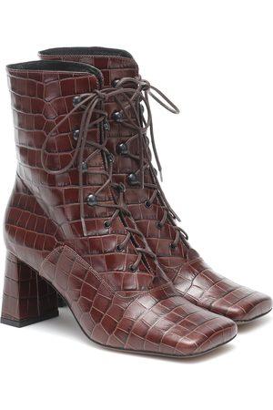 By Far Kvinder Ankelstøvler - Claude lace-up leather ankle boots