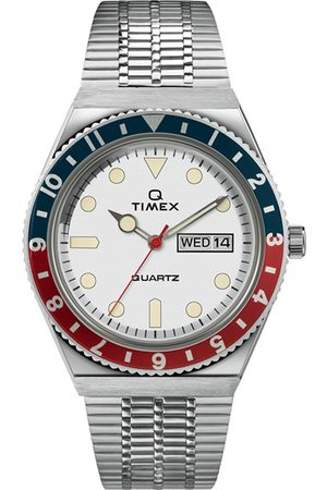 Timex Q Reissue 1979 Dive Blue/Red White Dial