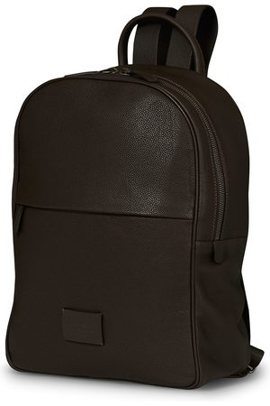 Anderson's Full Grain Leather Backpack Dark Brown