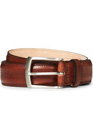Loake Henry Grained Leather Belt 3,3 cm Mahogany