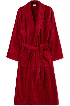 DEREK ROSE Cotton Velour Gown Wine Red