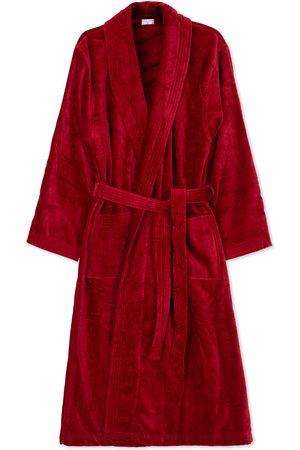 DEREK ROSE Cotton Velour Gown Wine Red