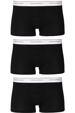 Dsquared2 3-Pack Cotton Stretch Trunk Black