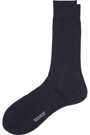 Pantherella Vale Cotton Socks Navy