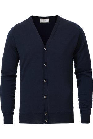 JOHN SMEDLEY Petworth Extra Fine Merino Cardigan Midnight
