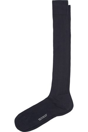Pantherella Vale Cotton Long Socks Navy