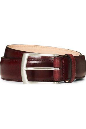 Loake Henry Leather Belt 3,3 cm Burgundy
