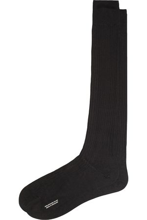Pantherella Baffin Silk Long Sock Black