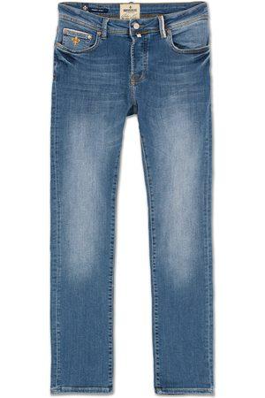 Morris Triumph Slim Fit Stretch Jeans Mid Blue