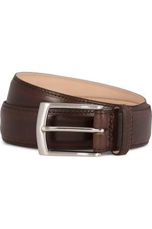 Loake Henry Leather Belt 3,3 cm Dark Brown