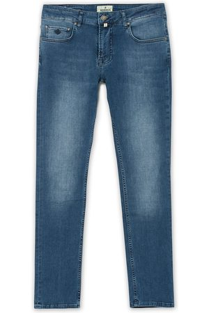 Morris Steve Satin Stretch Jeans Blue