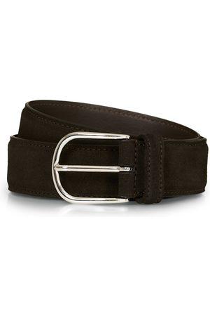 Anderson's Suede 3,5 cm Belt Dark Brown