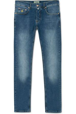 Morris Steeve Satin Stretch Jeans Semi Dark Wash