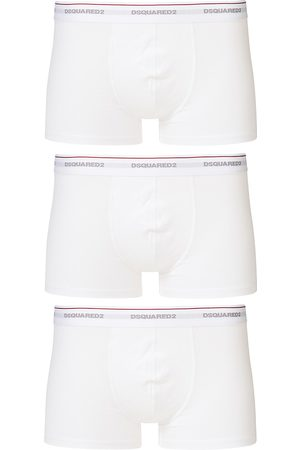 Dsquared2 3-Pack Cotton Stretch Trunk White