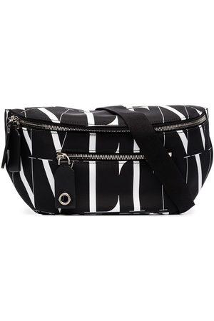 VALENTINO GARAVANI Black VLTN nylon logo print belt bag