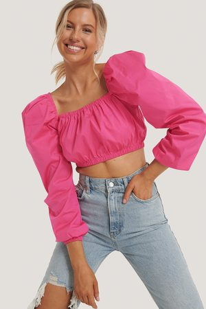 NA-KD Puff Sleeve Square Neck Top