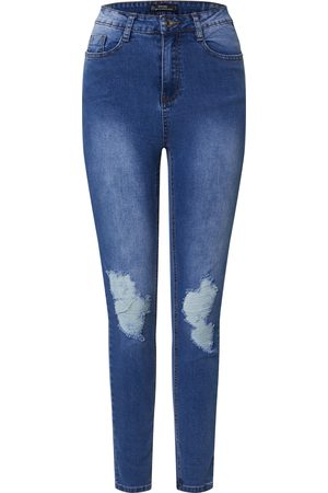 Missguided Jeans 'SINNER DISTRESS KNEE CUT HEM HIGH WAISTED SKINNY JEAN