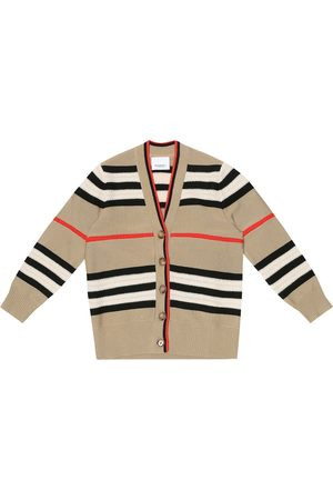 Burberry Piger Cardigans - Icon stripe wool and cashmere cardigan