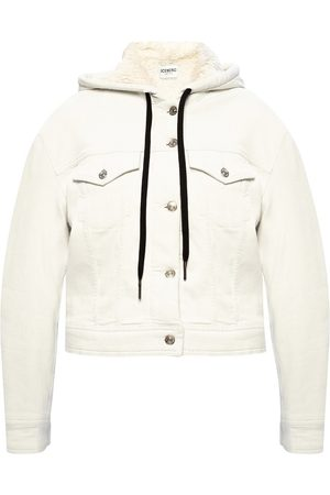 Iceberg Kvinder Cowboyjakker - Hooded denim jacket