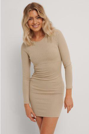 NA-KD Kvinder Kjoler - Rib Mid Dress