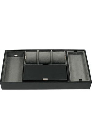 Wolf Mænd Ure - Howard Valet Tray with Cuff Black/Grey Pebble