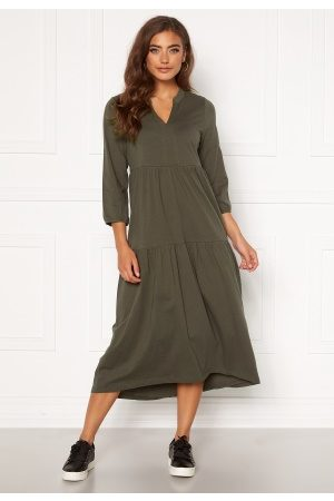 Happy Holly Kvinder Casual kjoler - Gabriella dress Khaki green 44/46