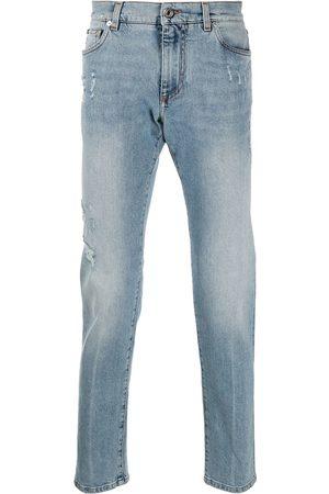 Dolce & Gabbana Mænd Slim - Distressed slim-fit jeans
