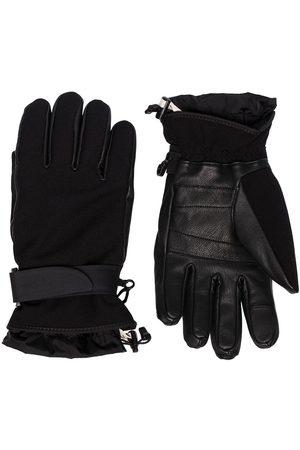 Moncler Mænd Handsker - Black leather and jersey gloves